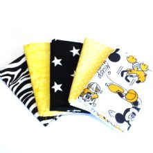 Pack of 5 100% Cotton Disney Mickey Mouse 'Splat' Prints Fat Quarters